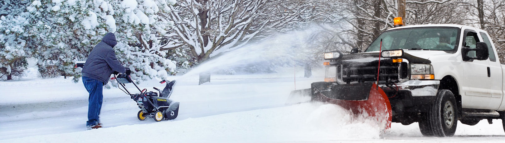 header image - snow blower and plow